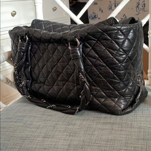 Chanel Ligne Lady Braid Quilted Leather XL Tote